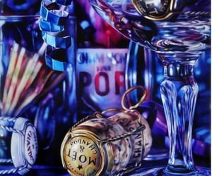 art, blue, and hyper-realism image