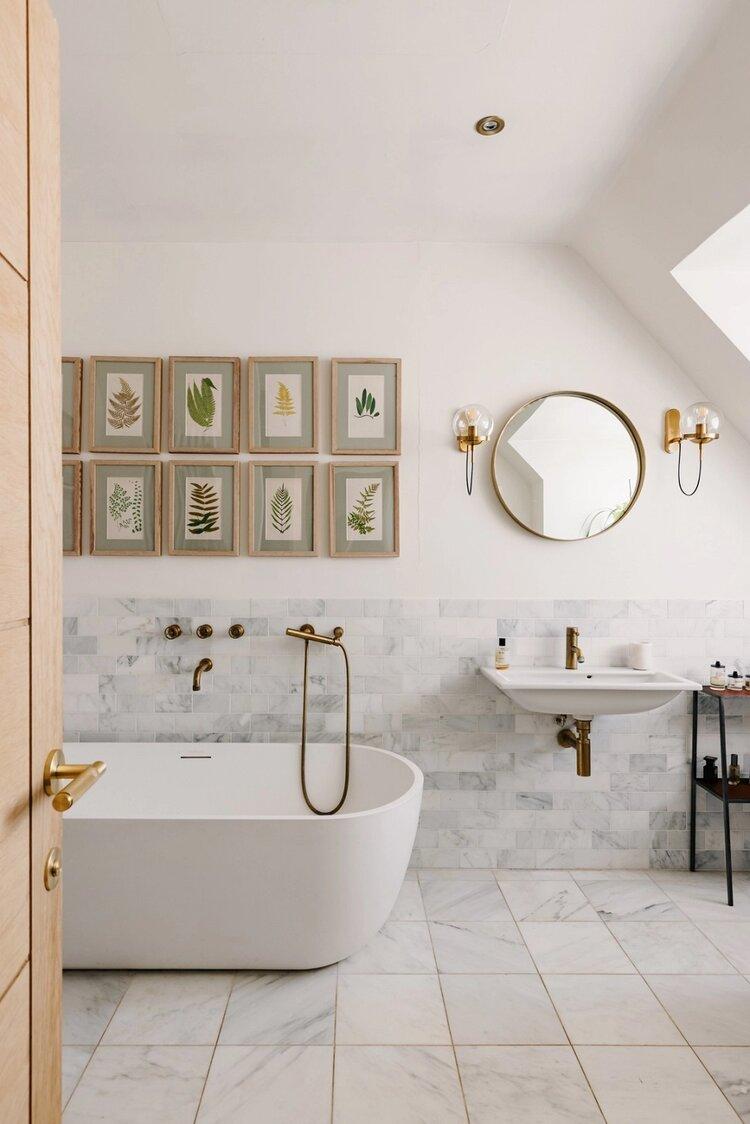 apartment, art, and bath image