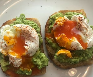 breakfast, eggs, and toast image