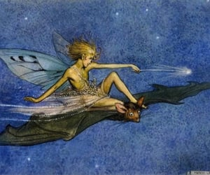 fairy, wings, and bat image