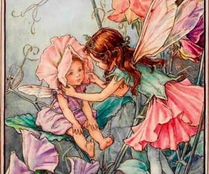 flower fairies, cottagecore, and fae image