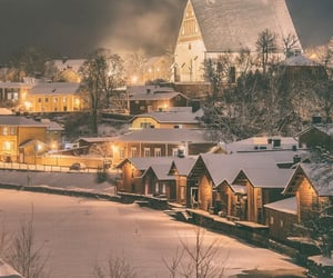 aesthetic, finland, and snow image