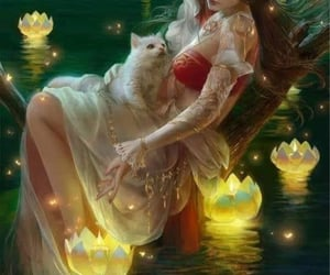 cat, ethereal, and fairycore image
