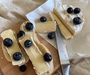 aesthetic, blueberry, and brie image
