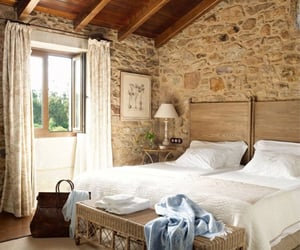 bedroom, home, and rustic image