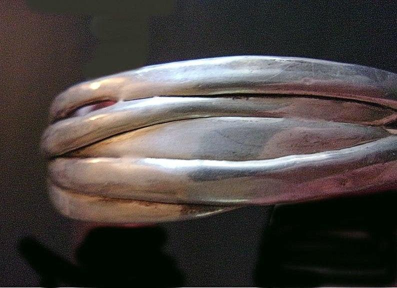 abstract, unique, and electroform bangle image