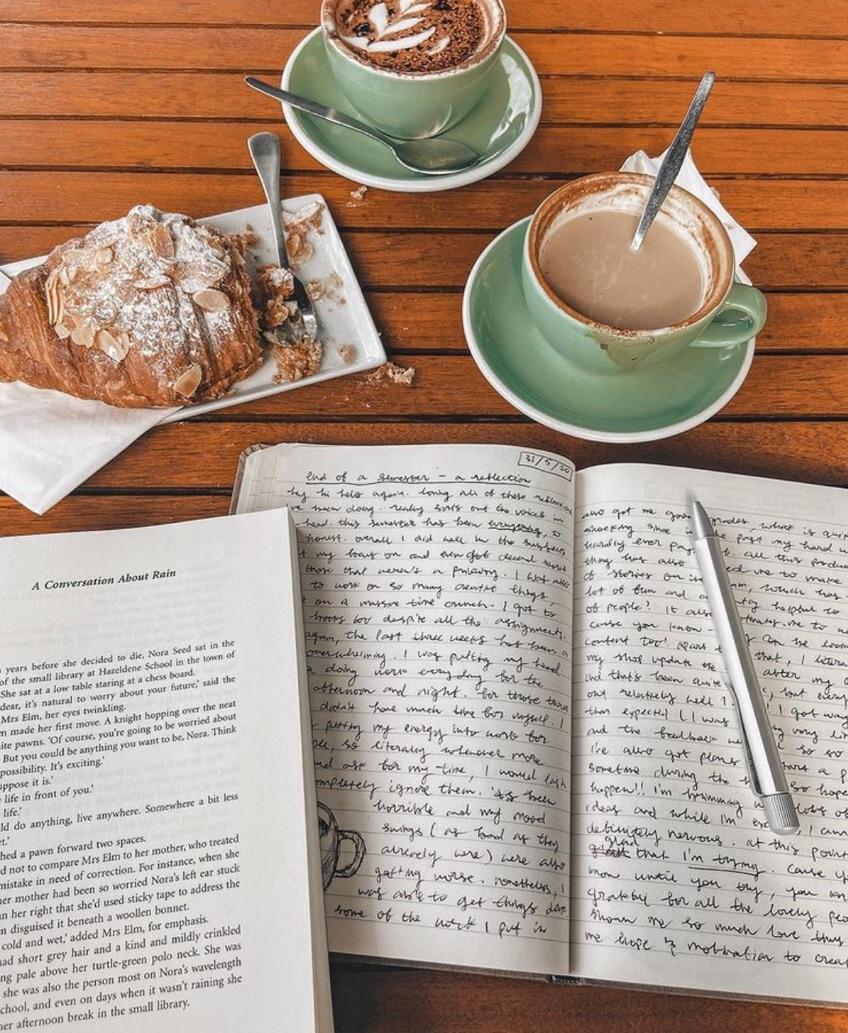 book, books, and cappuccino image