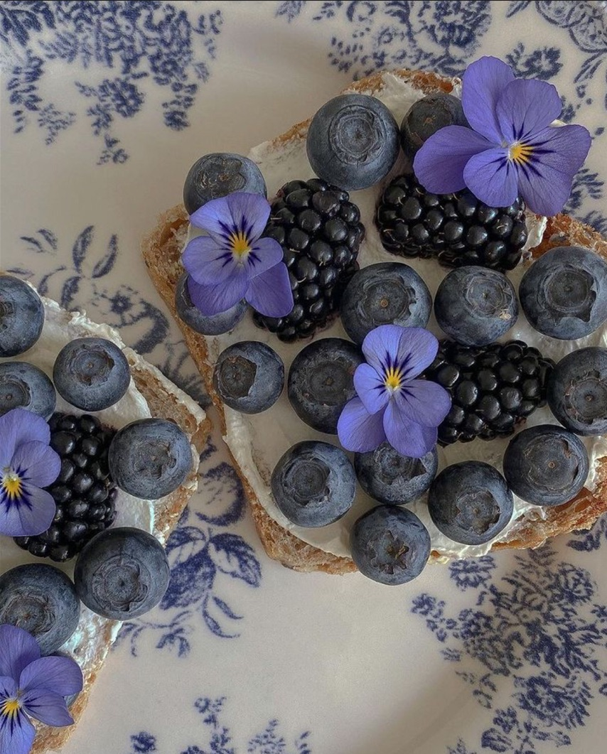 aesthetic, berries, and blue image
