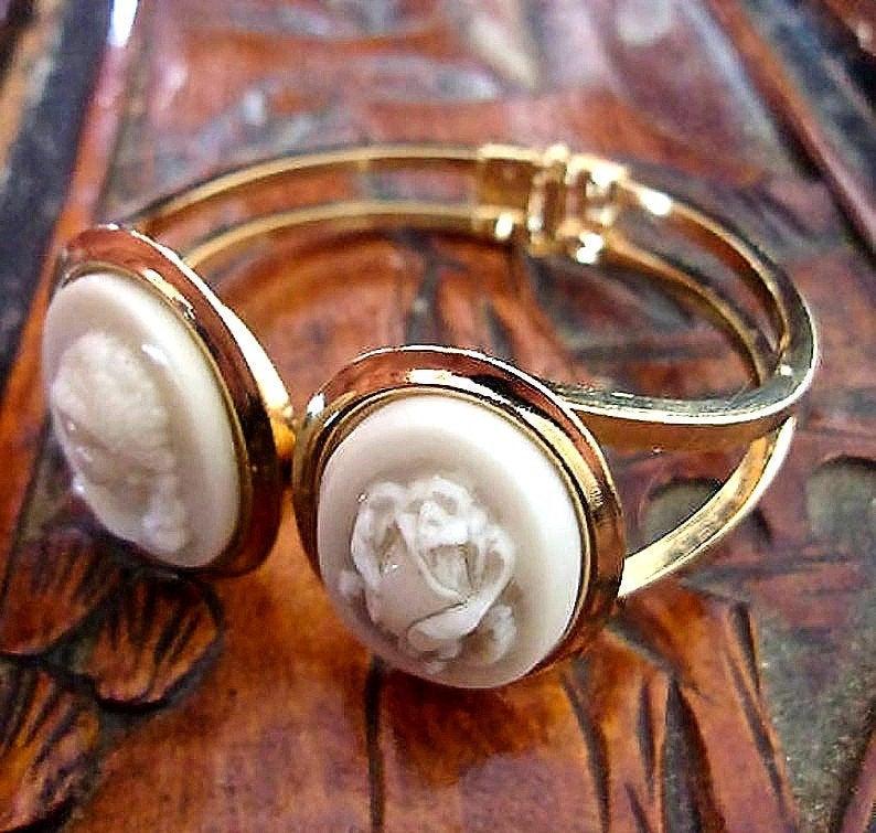 etsy, hinged bracelet, and clamper bracelet image