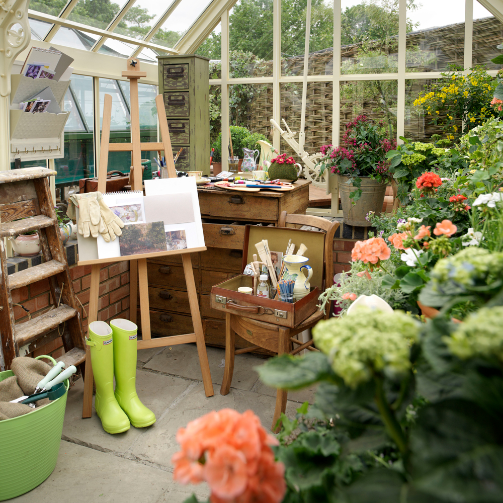 art, greenhouse, and painting image