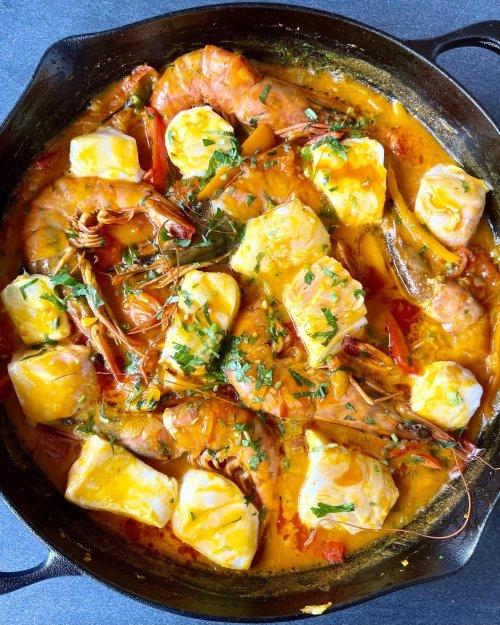 brazilian food and seafood stew image