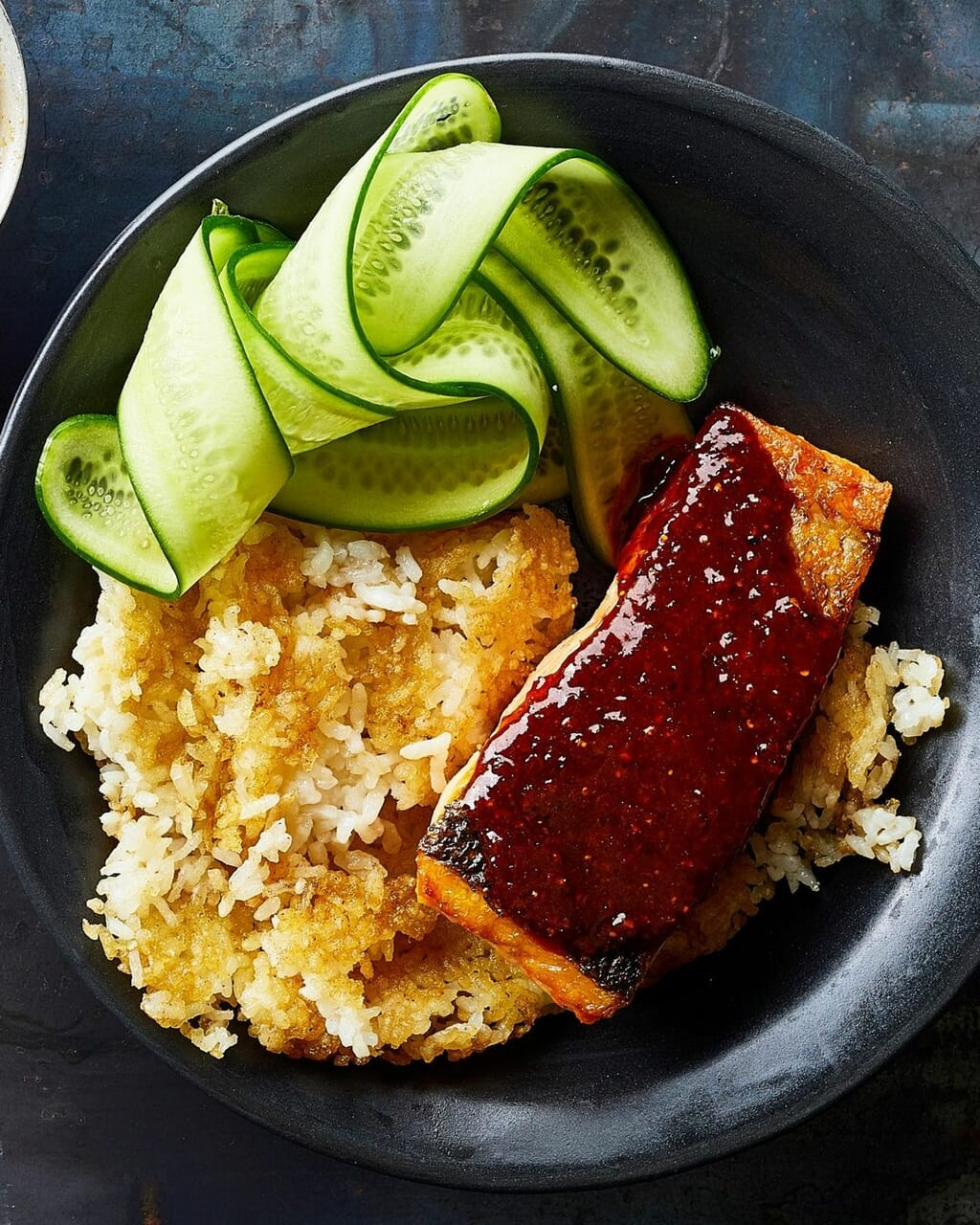 crispy rice and gochugaru salmon image
