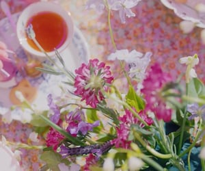 flowers, romantic, and purple kiss image