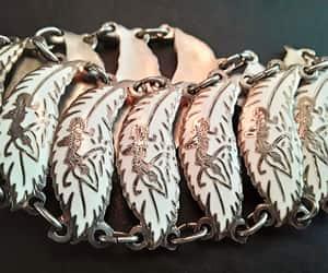 etsy, sterling silver, and enamel bracelet image