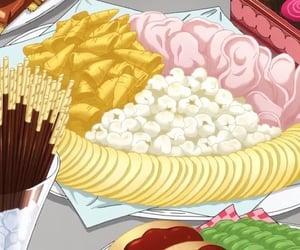 anime, food anime, and food image