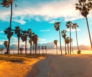 beach, santa monica, and travel image