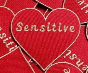 red, sensitive, and heart image