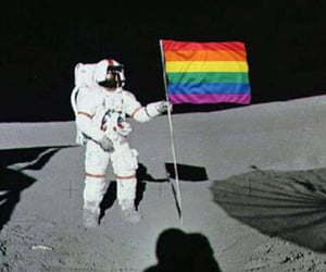 space, moon, and gay image