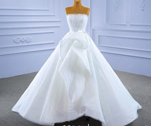 ball gown, high-end, and backless image