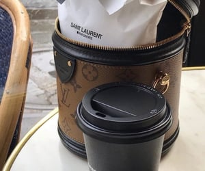 Louis Vuitton and coffee image