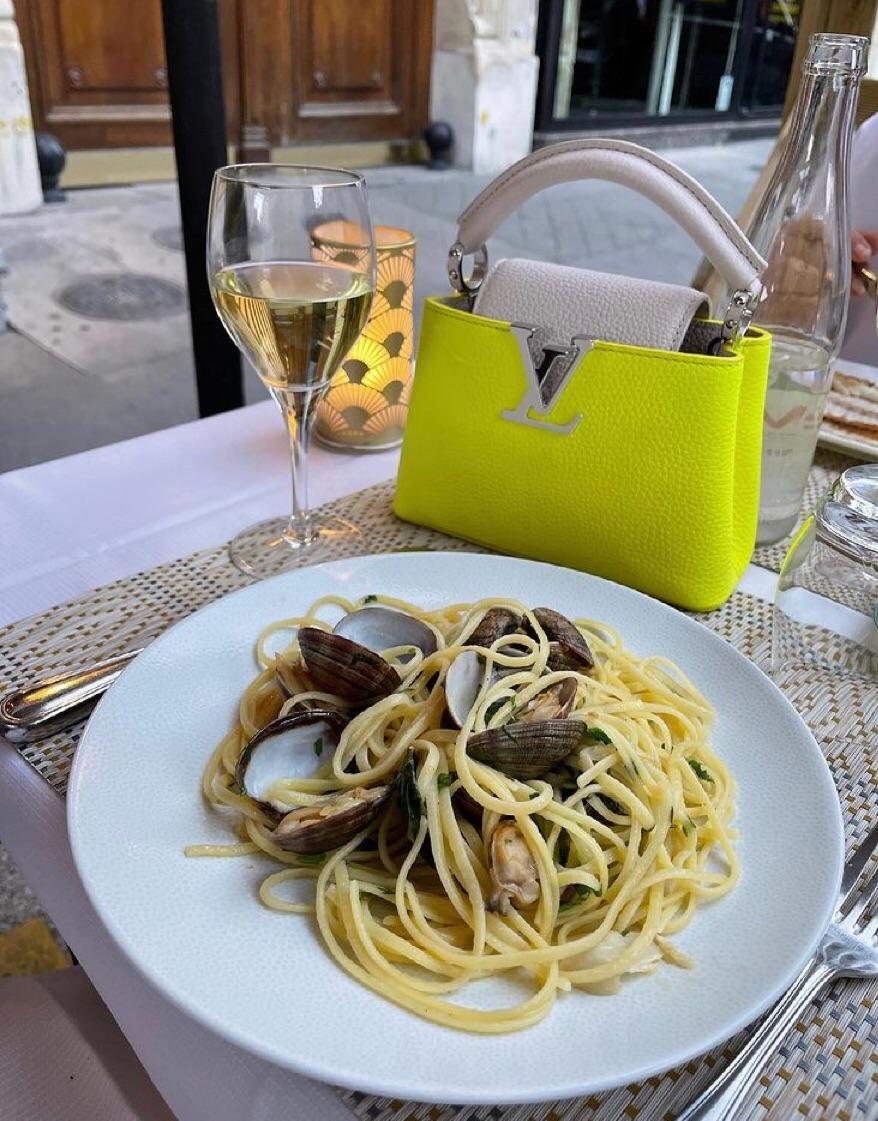 bag, wine, and fashion image