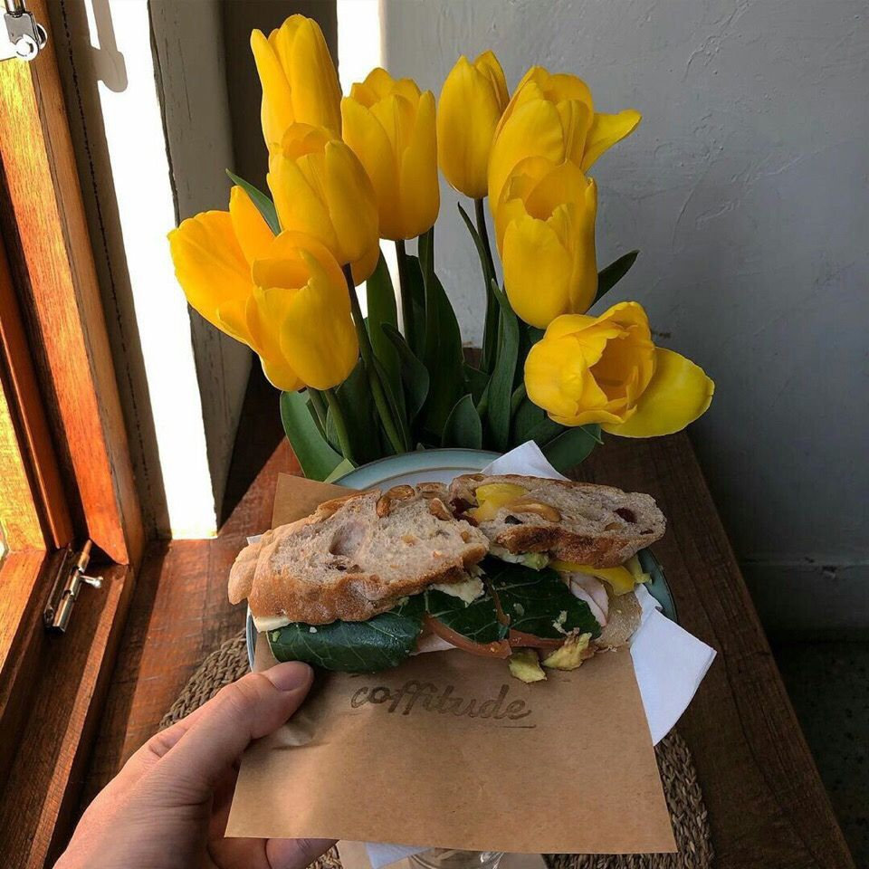 aesthetic, breakfast, and flowers image