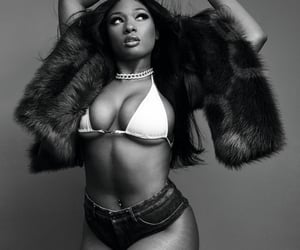 black and white and megan thee stallion image