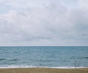 beach, peace, and polaroid image