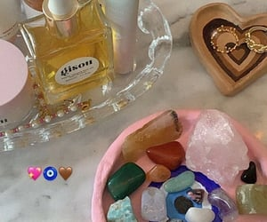 cosmetics, crystals, and room inspo image