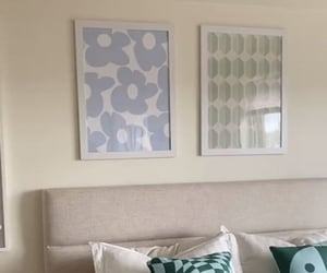 apartment, blue, and white image