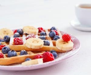 Fruits and waffle