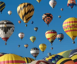 hot air balloons, new mexico, and balloon fiesta image