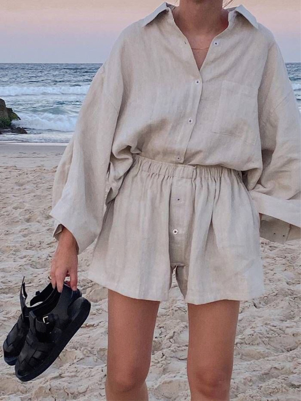 beach, linen, and summer image
