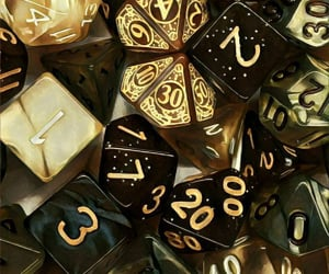 aesthetic and dice image