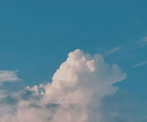 blue, calm, and cloud image