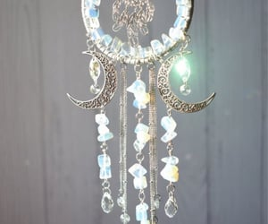 crystals, dreamcatcher, and pearl image