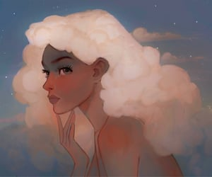 art, illustration, and clouds image
