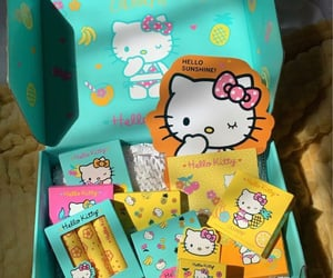box, hello kitty, and influencer image