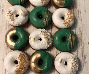 12 Green Gold White Mini Donuts Doughnuts Wedding Baby Bridal | Etsy