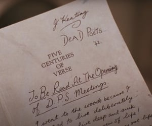 book, dead poets society, and movie image