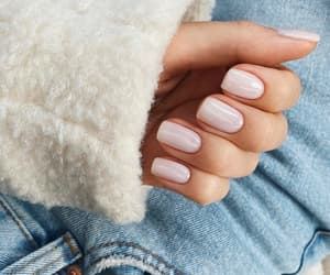 nails, jeans, and manicure image