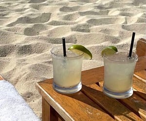 beach and drink image