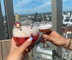 drinks, nails, and rooftop image