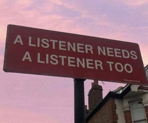 listen, sky, and quote image