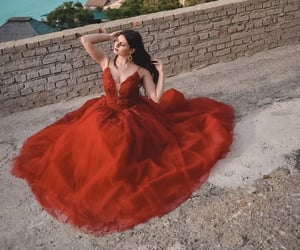aesthetic, italy, and red dress image