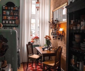 aesthetic, kitchen, and living room image