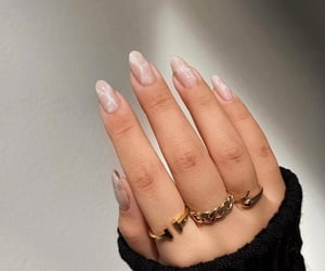 nails, accessories, and beige image