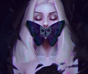 art, Ilustration, and purple image
