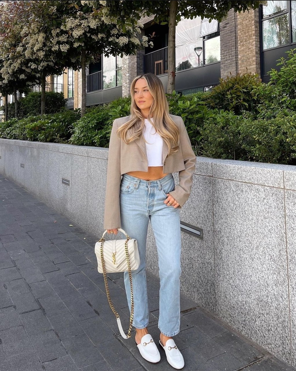 blogger, look, and yves saint laurent bag image