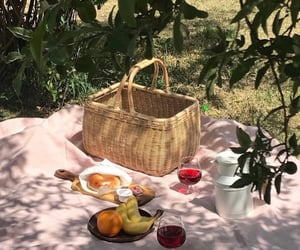 basket, bread, and countryside image
